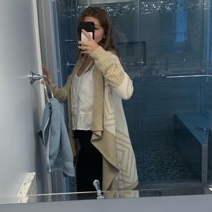 cream/tan long cardigan